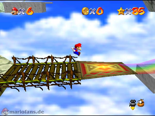 Super Mario 64 - Komplettlösung - Regenbogen Raserei