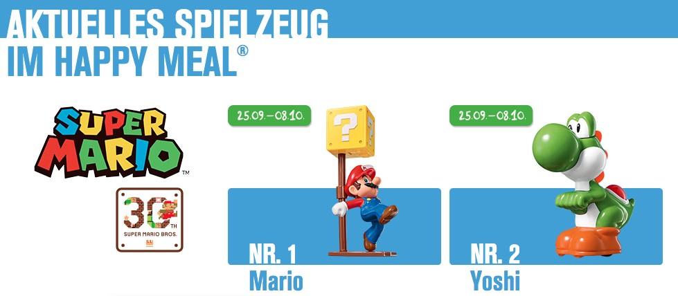Super Mario erobert das Happy Meal