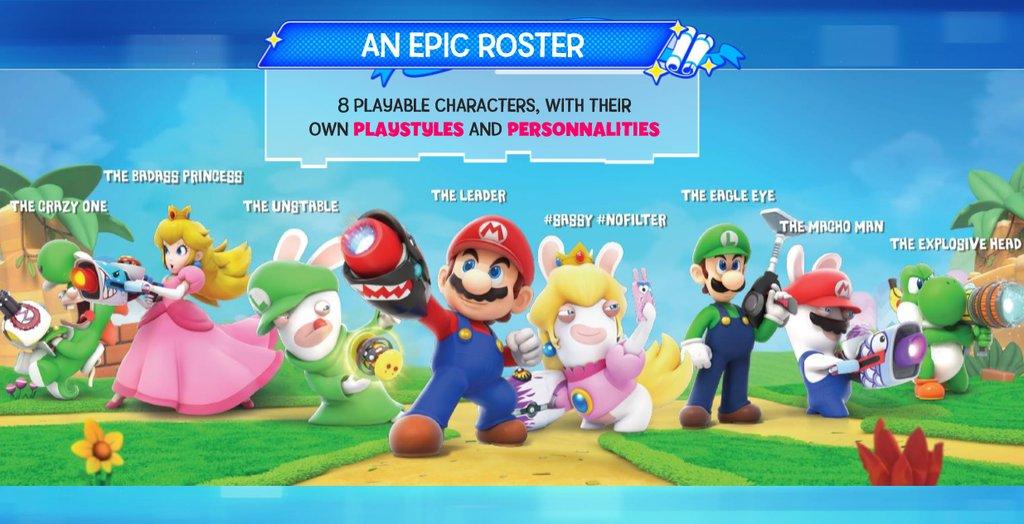 Noch mehr Material zum Mario + Rabbids Crossover