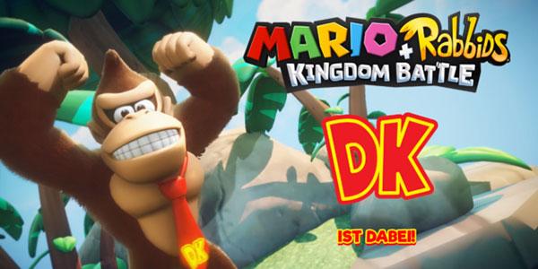 Donkey Kong gesellt sich zu den Rabbids!